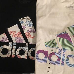 2 NWT Adidas logo Tee